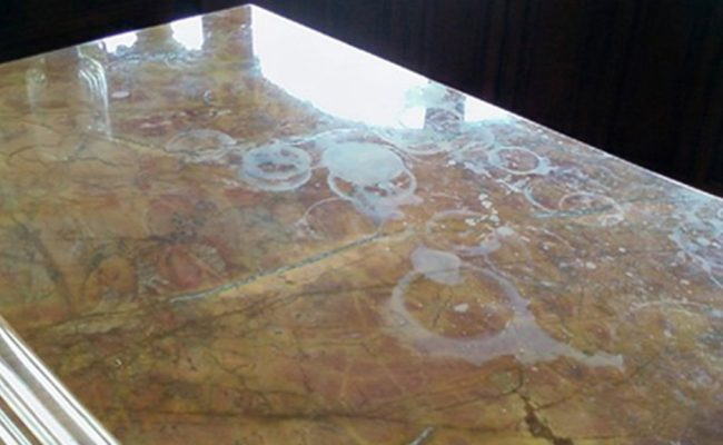 Etched Marble Restored