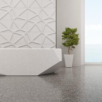 Terrazzo floor stripping and polishing